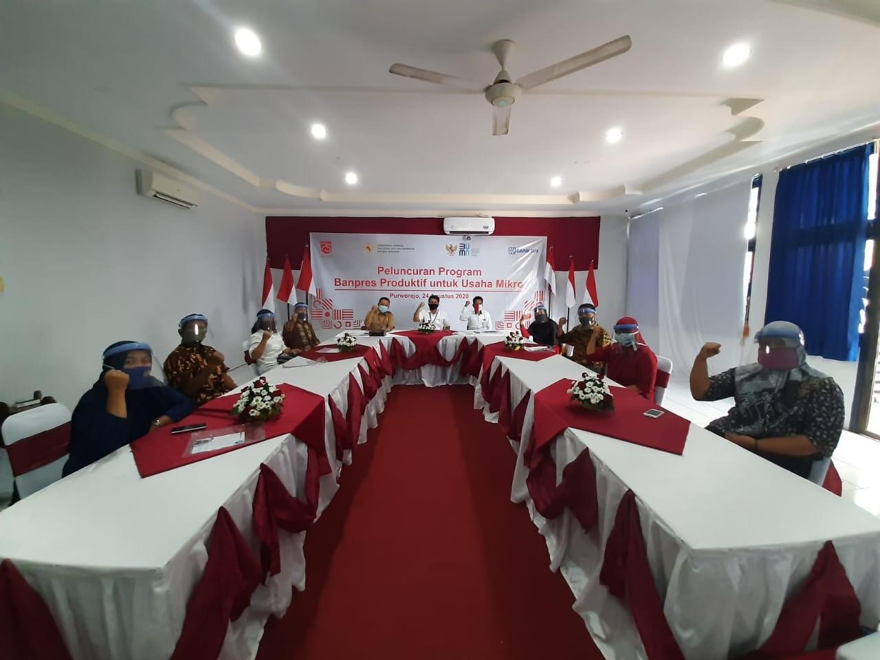 Peluncuran Bantuan Produktif Usaha Mikro (BPUM) di BRI Cabang Purworejo