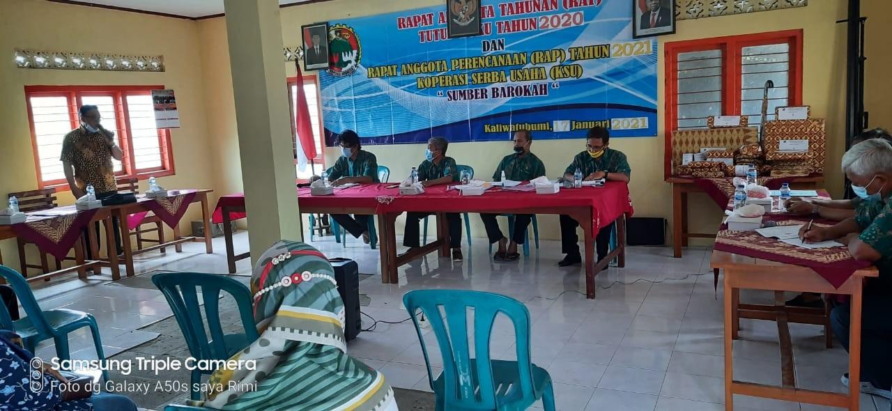Rapat Anggota Tahunan KSU Sumber Barokah Desa Kaliwatu Bumi