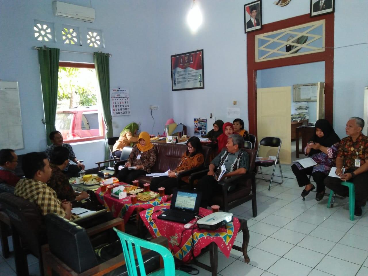 Rapat Pejabat Struktural Dinas KUKMP Kab. Purworejo Bulan Juni 2019